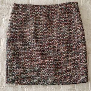 J. Crew Sparkly Tweed Skirt